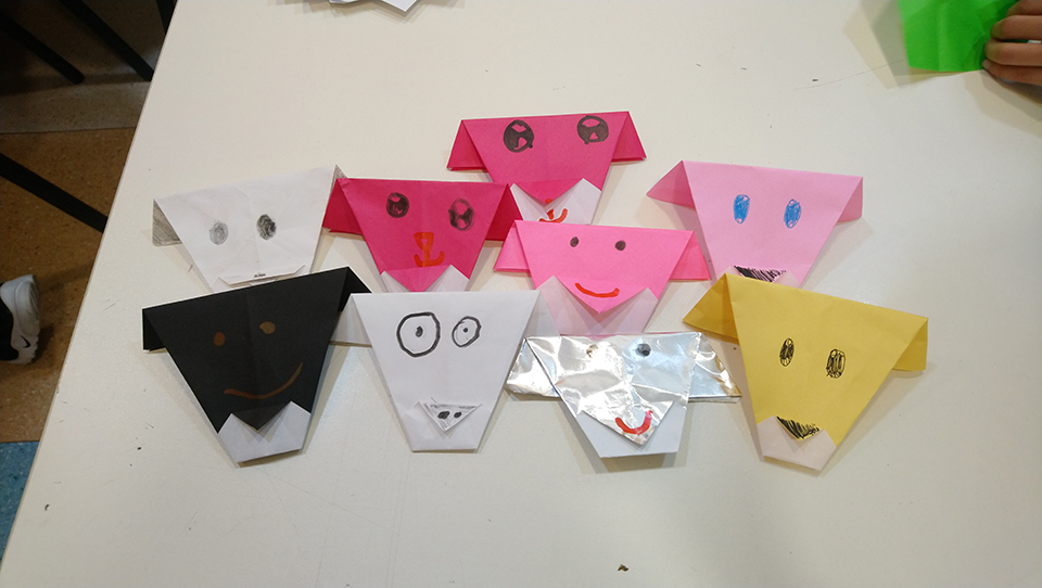 日本語 日文 日語 學校 兒童 摺紙 折紙 japanese school kids origami